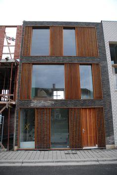 Inspiratie gevel on pinterest architects doors and pivot doors - Latwerk houten ...