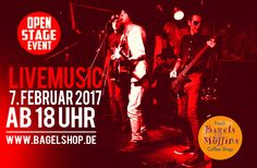 Auf geht's in den #bagelshop zur #OpenStage mit #LiveMusic :-) Ab 18 Uhr gehts los. Viel Spaß!!!  www.bagelshop.de