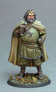 King Robert Baratheon from Dark Sword's George RR Martin line, painted to perfection by Jen Haley. I love this sculpt from Tom Meier!