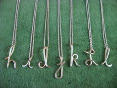 I want a j necklace!!  Custom Initial Pendant in sterling silver by Laladesignstudio, $50.00