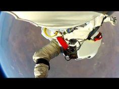 Talk about the spins   Felix Baumgartner - Headcam footage 128k ft space jump HD1080p