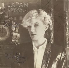 "Japan, Gentlemen Take Polaroids - Autographed UK 7"" vinyl single"