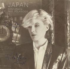 "Japan, Gentlemen Take Polaroids - Autographed UK 7"" vinyl single"