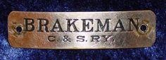Museu Ferroviário Virtual - Antigo emblema de quepe de guarda-freios norte-americano