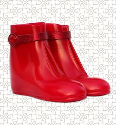 Gads Radiance Red Over-the-Shoe Rain Boot
