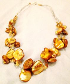 Beaded WireBraided Necklace w/ stone chips and by DesignsByGray