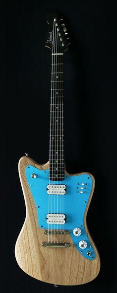 Deimel Firestar »Natural Satin« w/ turquoise anodized pickguard