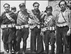 Members of the Durruti Column in Aragón (August, 1936) #Spain #war