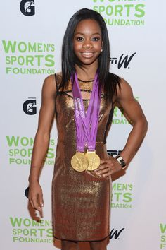 Gabrielle Douglas Photos - Olympic gymnast Gabrielle Douglas attends the Annual Salute To Women In Sports Gala at Cipriani Wall Street on October 2012 in New York City. - Annual Salute To Women In Sports - Arrivals Elite Gymnastics, Olympic Gymnastics, Gymnastics Girls, Gymnastics History, Artistic Gymnastics, Olympic Games, American Athletes, American Sports, Women Athletes