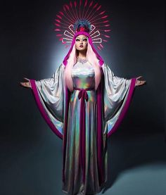 Our Lady of the Kimchi Violet Chachki, Trajes Drag Queen, Kim Chi Drag, Drag Queen Costumes, Illusion Photos, Queen Art, Queen Makeup, Rupaul Drag, Teen Mom