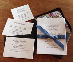 Printing your liners in your invitation set's accent color is an excellent way to incorporate that color more into your suite.