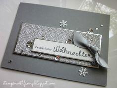 stampin up stille nacht wünsche zum fest eisglitzer silberfolie weihnachtskarte christmas card  #stampinwithfanny