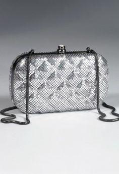 Handbags - Metal Mesh Box Handbag with Diamond Detail from Camille La Vie and Group USA