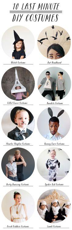 10 Last Minute DIY Halloween Costumes