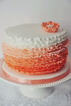 Peach ombre cake by Be Sweet by Maria