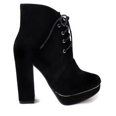 BOTINE NEGRE CU TOC GROS GOLD  165,0 LEI Lei, Wedges, Boots, Fashion, Shoes, Other, Shoe, Crotch Boots, Moda