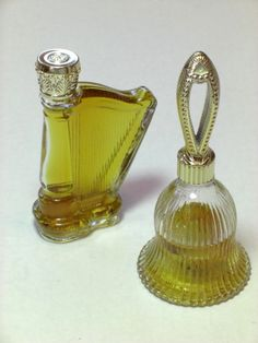 "Vintage Perfume Bottles - I have 2 harp bottles: one with the Avon perfume ""Charisma"" and one empty! - Kay C."