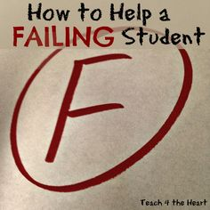 9 Ways to Help Failing Students  Great ideas to help students who struggle in school.