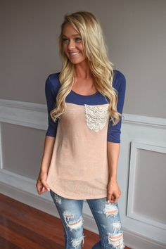 A cute combo of Navy & Peach!  Material: 96% Polyester 4% Spandex  Product Sizing Chart Size Bust Hip Length Waist Small...