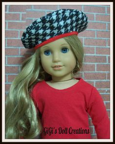 American Girl Doll Beret for Grace or other by GiGisDollCreations