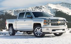 Chevy Silverado. 2014. Silver. What a beaut!