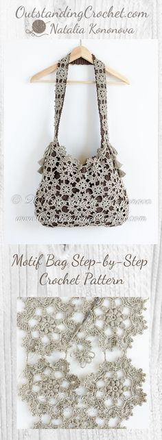 Motif Bag Step-by-Step Crochet Pattern at www.OutstandingCrochet.com