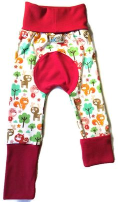 Woodland Fox Bum Pants / Monkey Butt / Fluff by KiddieDudsByTrixie, $15.00