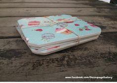 Podkładki pod kubeczki z motywem I <3 cupcakes   Więcej na mojej stronie na facebooku (DecoupageGallery)