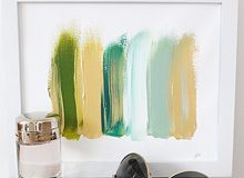 Abstract art in modern colors
