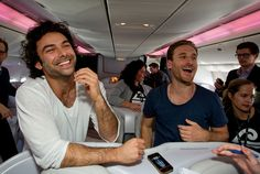 Tolkien dwarves have NEVER been hotter! Aidan Turner and Dean O'Gorman play Kili and Fili, the 'hot dwarves', from 'The Hobbit'! Turner's British (and deliciously furry) and O'Gorman is from New Zealand which essentially means 'automatic marriage' for me!