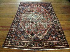 """Vintage Persian Josheghan Rug 4'5""""x6'6"""" —"""