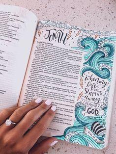Bible Drawing, Bible Doodling, Bible Study Notebook, Bible Study Journal, Bibel Journal, Vie Motivation, Bible Notes, Bible Encouragement, Bible Art