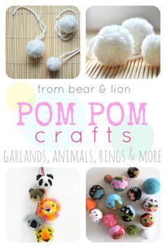 cute pom pom crafts!