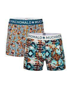Muchachomalo boxershort set voor jongens Boat, blauw