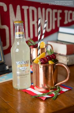 You know you're Game Day Ready when your drink is as spirited as your old fight song. Add your team colors to this tasty Moscow Mule and enjoy with all your alumni buddies.