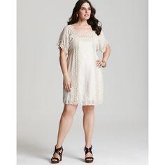 Precioso >>> Johnny Was Collection Plus Size Lace Trim Dress