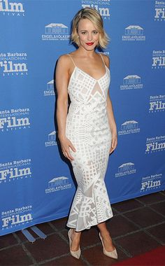 Rachel McAdams at the 31st Santa Barbara International Film Festival on February 5, 2016, wearing a Jonathan Simkhai Sleeveless Bonded Burnout Midi Gown http://api.shopstyle.com/action/apiVisitRetailer?id=505453949&pid=uid7729-3100527-84. #style #celebstyle