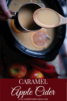 Spiced Caramel Apple Cider in Your Crock Pot – a southern discourse - Herzlich willkommen Drinks Alcohol Recipes, Non Alcoholic Drinks, Fun Drinks, Yummy Drinks, Beverages, Drink Recipes, Yummy Recipes, Crockpot Recipes, Winter Desserts