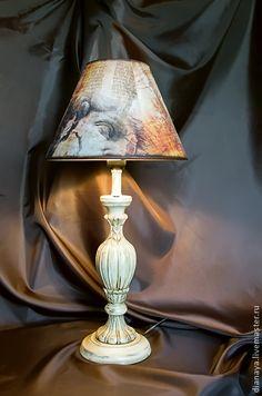 """Освещение ручной работы. Ярмарка Мастеров - ручная работа Настольная лампа """"Старый Рим"""" декупаж. Handmade."""