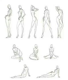 varias  poses