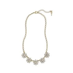 Mirabelle Petite Collar Necklace $58 N303 Delicate floral shapes take center-stage in this oh-so-pretty collar necklace. High-shine clear crystals catch the light, while an antique gold-plating plays up the shine. #statementnecklace #chloeandisabel #luxe https://www.chloeandisabel.com/boutique/mariesluxurygirljewels