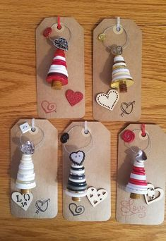 cardboardcrafts preschoolcrafts woodencrafts flowercrafts buttoncrafts beachcrafts corkcrafts valentines beadcrafts valentine ornaments button heart day set Set of 3 Valentines Day heart Button Ornaments You can find Ornaments and more on our website Preschool Christmas Crafts, Christmas Crafts For Kids To Make, Handmade Christmas Decorations, Homemade Christmas Gifts, Christmas Gift Tags, Diy Christmas Ornaments, Valentine Crafts, Kids Christmas, Holiday Crafts