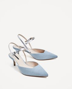ZARA - COLLECTION AW/17 - CONTRASTING SLINGBACK HEELED SHOES