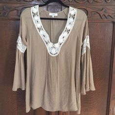 Boho Dress or Tunic NWOT Boho Tunic or Dress with beautiful detail. NWOT NEVER WORN. From Altar'd State. Size Small.  Not Free People just listed under for exposure. Free People Dresses