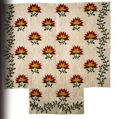 Lily Flower, 1850, cotton, Shelburne Museum