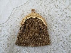 Old mesh purse destash nice for dolls by Nkempantiques on Etsy