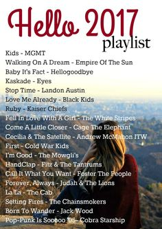 2017 Music Playlist