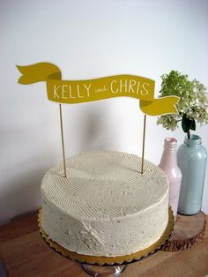 Something cute and charming about this.. could use for some pre-weddingness celebrations.. Or banner for guest seating board..