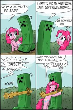 Creeper and Pinkie Pie - Minecraft Photo (33853503) - Fanpop fanclubs: