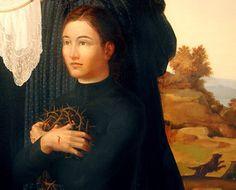 Sacred Art of Leonard Porter St Gemma Galgani, Sacred Art, Christian Faith, Mona Lisa, Saints, History, Artwork, Angels, Heart